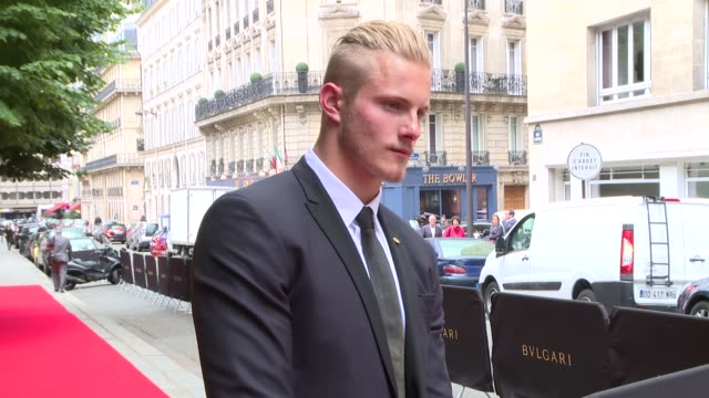 Alexander Ludwig at Bulgari New Collection Presentation arrivals at Apicius on July 08 2014 in Paris France