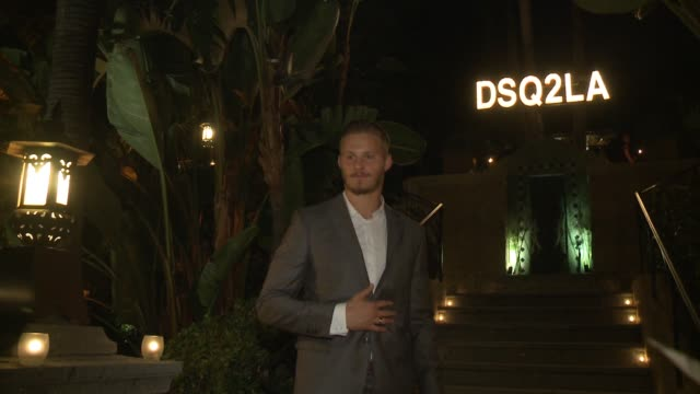 Alexander Ludwig at Dsquared2 Celebrates First Boutique In The USA With Pommery Champagne on October 28 2014 in Los Angeles California