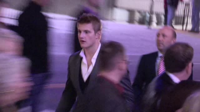 Alexander Ludwig greets fans at The Hunger Games after party in Los Angeles 03/12/12