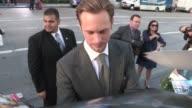 Alexander Skarsgard greets fans at the Battleship Premiere in Los Angeles 05/10/12 Alexander Skarsgard greets fans at the Battleship on May 10 2012...