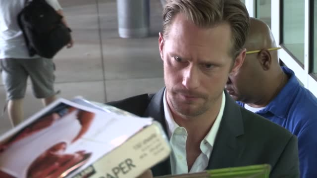 Alexander Skarsgard greets fans at the East Premiere in Hollywood 05/28/13