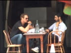 Alexander Skarsgard lunches with a friend at Gemma at the Bowery Hotel in New York 08/05/11