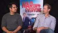 INTERVIEW Alexander Skarsgard Michael Pena on filming in Iceland not many African in Iceland different than 'End of Watch' at 'War On Everyone'...