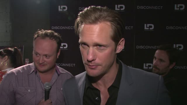 INTERVIEW Alexander Skarsgard on his role in the film meeting the director and what the film is about at Disconnect NYC Special Screening at SVA...