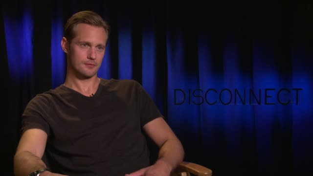 INTERVIEW Alexander Skarsgard on reading comments about himself online at 'Disconnect' Los Angeles Press Junket in Beverly Hills CA on 4/3/2013