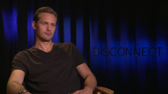 INTERVIEW Alexander Skarsgard on working with Henry Alex Rubin at 'Disconnect' Los Angeles Press Junket in Beverly Hills CA on 4/3/2013