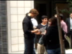 Alexander Skarsgard poses with fans while on the set of his new movie in New York 08/15/11