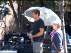 Alexander Skarsgard takes a drink between shots of his new movie in New York 08/15/11