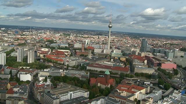Alexanderplatz Berlin TV Tower Aerial