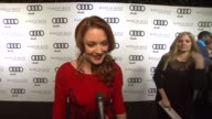 Alexandra Breckenridge on kicking off Golden Globe week at this party what she's most looking forward to this evening what she thought of the Audi A8...