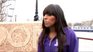 Alexandra Burke and Steve Backley attempt to break world record for coin stacking ENGLAND London EXT Alexandra Burke interview SOT on attempting to...