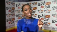 Alexandra Burke On how excited she is at being at the Brits and about her big record deal in the US with Epic at the Brit Awards Arrivals at London