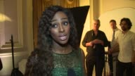 INTERVIEW Alexandra Burke on the foundation Amy and her music at The Amy Winehouse Foundation Ball on 18th November 2014 in London England