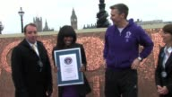 Alexandra Burke Steve Backley launch Cadbury's Spots V Stripes Challenge SIGHTED Alexandra Burke Steve Backley at Queens Walk Southbank on March 01...