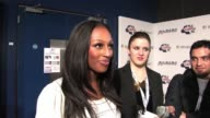 Alexandra Burke talks about her dance routines and friendship with other XFactor contestants shortly before taking the stage to perform at 958...