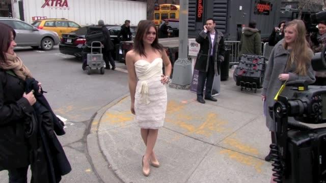 Alexandra Chando at MercedesBenz Fashion Week in New York on 2/14/2012