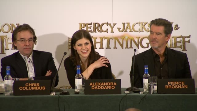 Alexandra Daddario on fans on the book on how they have criticized her for not looking right on how they maintain the character on that she has to...