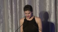 SPEECH Alexandra Daddario presents award to Marla SmithNilson for her work with Water 1st at SELF Magazine's Women Doing Good Awards on September 11...