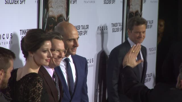 Alexandra Edenborough Gary Oldman Mark Strong at Tinker Tailor Soldier Spy Red Carpet on 12/6/2011 in Hollywood CA