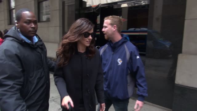 Alexandra Park and Tom Austen leaving 'The Wendy Williams' show pose for photos with fans in New York City on November 11 2015 in New York City