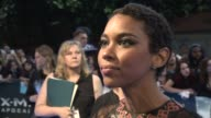 INTERVIEW Alexandra Shipp on the SFX of the film and wanting to meet Halle Berry at 'XMen Apocalypse' Premiere on May 09 2016 in London England