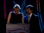 Alexandra Wentworth and George Stephanopoulos talk about how much money the charity has raised at the 2010 A Funny Thing Happened On The Way To Cure...