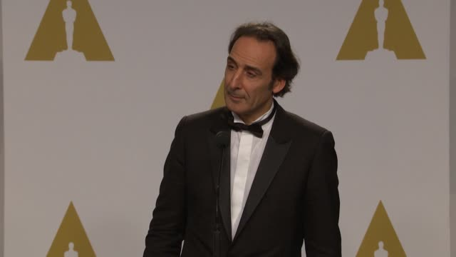 SPEECH Alexandre Desplat at the 87th Annual Academy Awards Press Room at Dolby Theatre on February 22 2015 in Hollywood California
