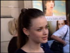 Alexis Bledel at the 'Tuck Everlasting' Premiere at the El Capitan Theatre in Hollywood California on October 5 2002