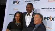 Alexis Stoudemire Amare Stoudemire and CEO of EPIX Mark Greenberg at EPIX Premiere Of Amare Stoudemire IN THE MOMENT at Marquee on April 18 2013 in...
