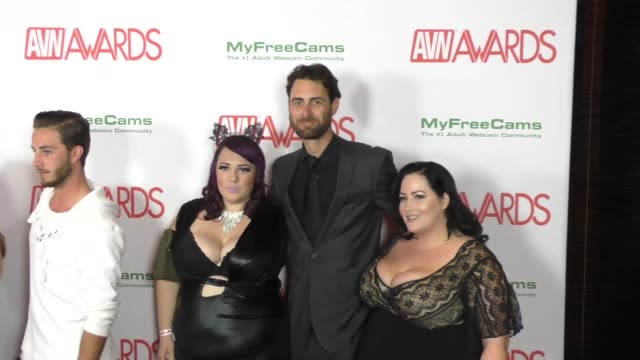 Alexxxis Allure Eliza Allure Atticus Allure at the 2017 AVN Awards Nomination Party at Avalon Nightclub in Hollywood Celebrity Sightings on November...