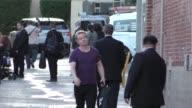 Alfie Allen greets fans outside Jimmy Kimmel Live in Hollywood in Celebrity Sightings in Los Angeles