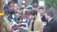 Alfie Allen Iwan Rheon Michael McElhatton greets fans outside Jimmy Kimmel Live in Hollywood in Celebrity Sightings in Los Angeles
