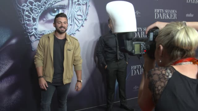 Alfie Arcuri arrives ahead of the Fifty Shades Darker launch screening at Hoyts Entertainment Quarter on February 08 2017 in Sydney Australia