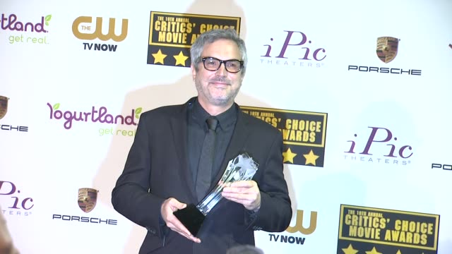 Alfonso Cuaron at 19th Annual Critics' Choice Movie Awards Press Room at The Barker Hanger on in Santa Monica California