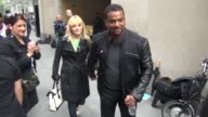 Alfonso Ribeiro and Angela Unkrich outside NBC Studios Alfonso Ribeiro and Angela Unkrich outside NBC on May 29 2013 in New York New York