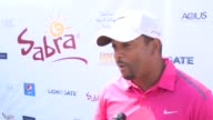INTERVIEW Alfonso Ribeiro on his favorite person to play golf with at The 7th Annual George Lopez Celebrity Golf Classic Presented By Sabra Salsa at...