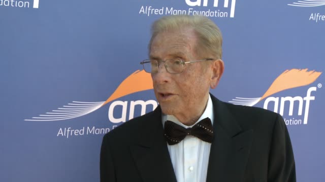 INTERVIEW Alfred Mann on the event his foundation's work over the past 30 years at Alfred Mann Foundation's An Evening Under the Stars with Andrea...