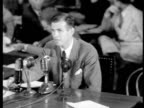 Alger Hiss testifying to HUAC denying that he is a Communist / newsreel