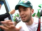 Algerian fans decked out in their national colours and wrapped in the flag gathered in the Angolan city of Benguela Thursday ahead of the semifinal...