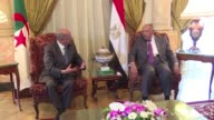 Algerian Foreign Minister Abdelkader Messahel visited Cairo on Wednesday meeting with his Egyptian counterpart Sameh Shoukry