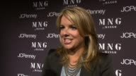 Ali Fedotowsky talking about loving MNG at the Launch of MNG by Mango at JCPenney at New York NY