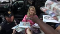 Ali Larter arrives at the TODAY show in Rockefeller Center and greets fans before going in Celebrity Sightings in New York on August 07 2014 in New...