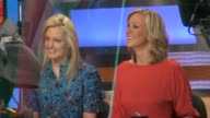 Ali Wentworth and Lara Spencer at the 'Good Morning America' studio in New York on 2/7/2012