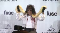Alice Cooper at the 26th Annual Rock And Roll Hall Of Fame Induction Ceremony Press Room at New York NY
