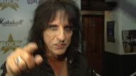 Alice Cooper on being nominated on what classic rock is on whether rock has gone back to basics on TV talent shows on shopping in London on Ozzy...