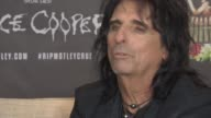 INTERIVEW Alice Cooper on Justin Bieber his need to now show talentt at Royal Garden on June 10 2015 in London England