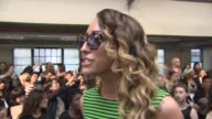Alice Dellal on wearing House of Holland being a fan of the 90's what she likes about House Of Holland at House of Holland London Fashion Week...