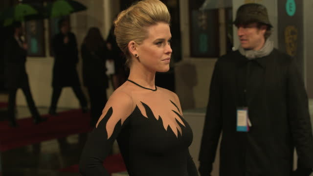Alice Eve at EE British Academy Film Awards 2013 Red Carpet Arrivals at The Royal Opera House on February 10 2013 in London England