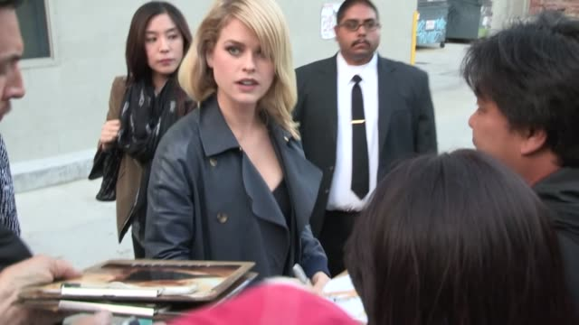 Alice Eve greets fans in Hollywood 05/17/13