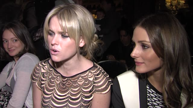 INTERVIEW – Alice Eve Olivia Palermo on London Fashion Week London's street style featuring trends at Temperley London Fashion Week A/W 2013 at The...